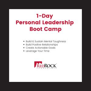 RedRock 1-Day Personal Leadership Boot Camp