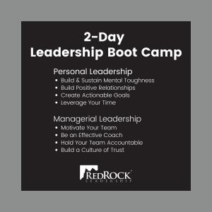 RedRock 2-Day Leadership Boot Camp